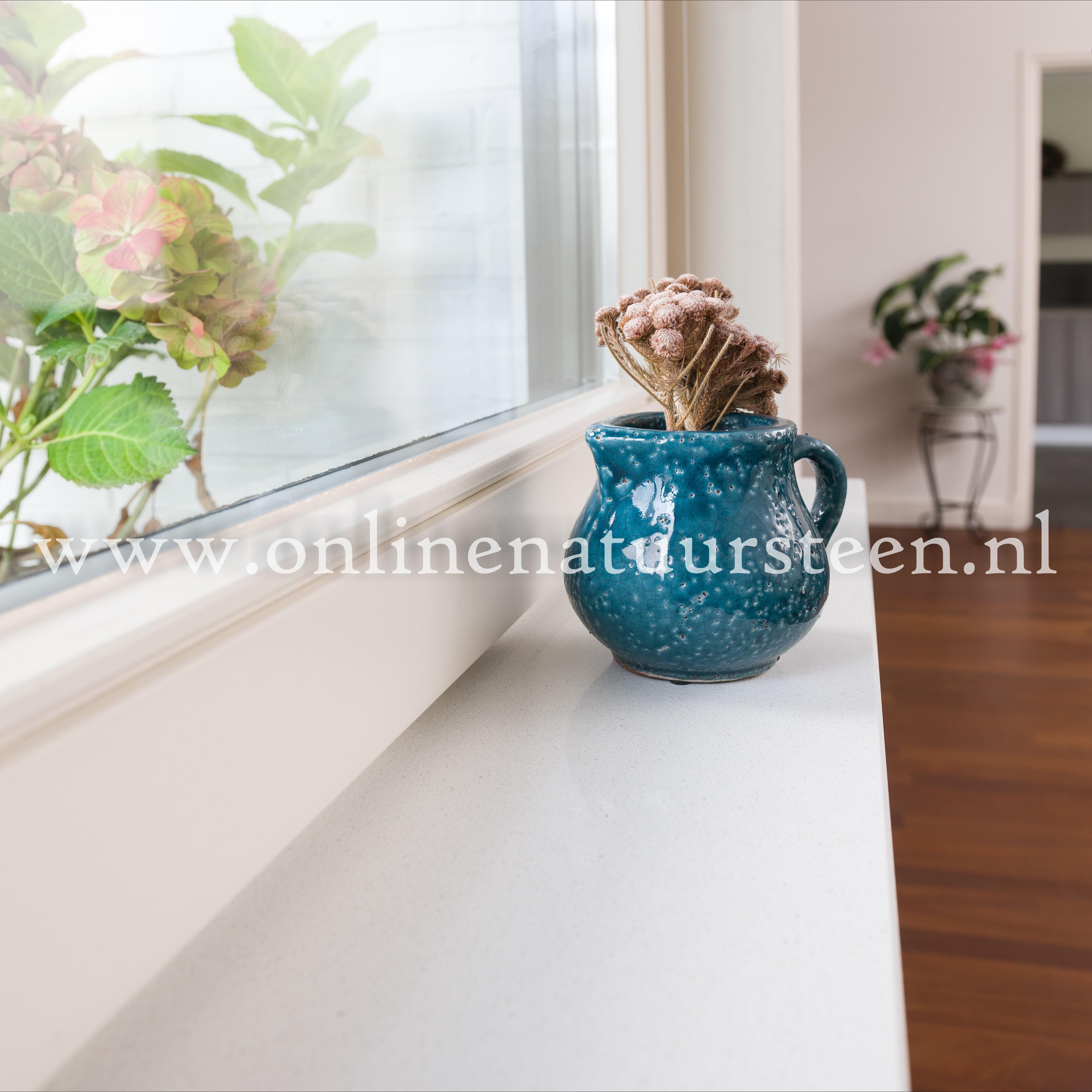 Online Natuursteen Marmercomposiet Bianco C 2 Cm
