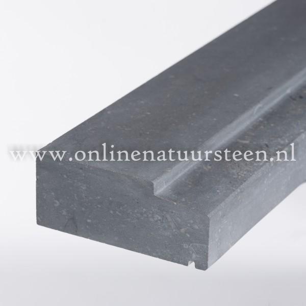 Belgisch hardsteen gezoet geprofileerd - 8 cm. maatwerk