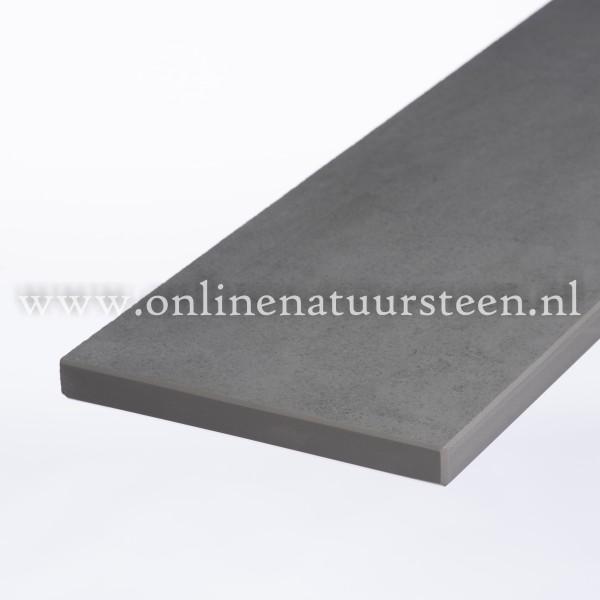 Ceramic-Stone Steel Grey (gezoet) - 2 cm.
