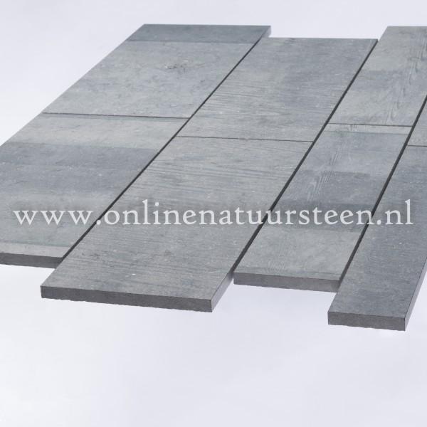 Belgisch hardsteen (gezaagd) Banen vrije lengte 15 breed x ca. 2cm dikte