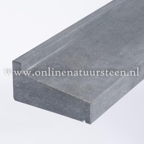 Belgisch hardsteen gezoet geprofileerd - 18 cm. maatwerk