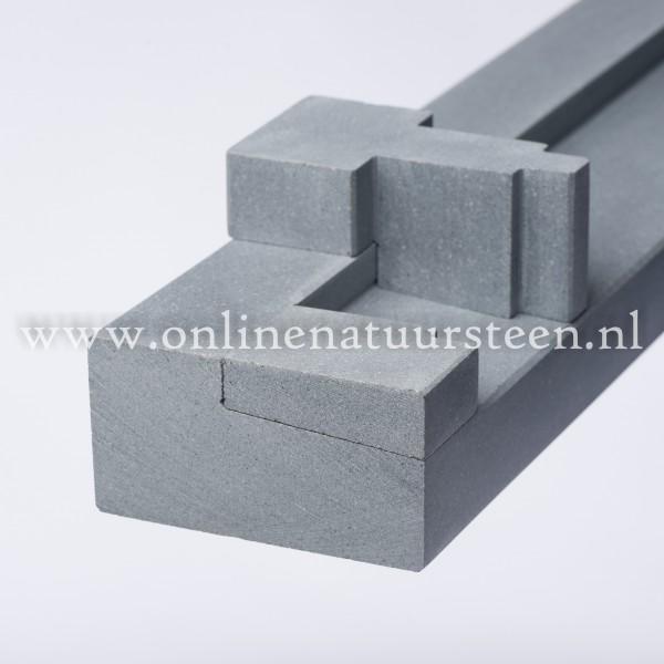Marmercomposiet Buvex ™ grijs  buitendeurdorpel gezoet geprofileerd - 6 cm.