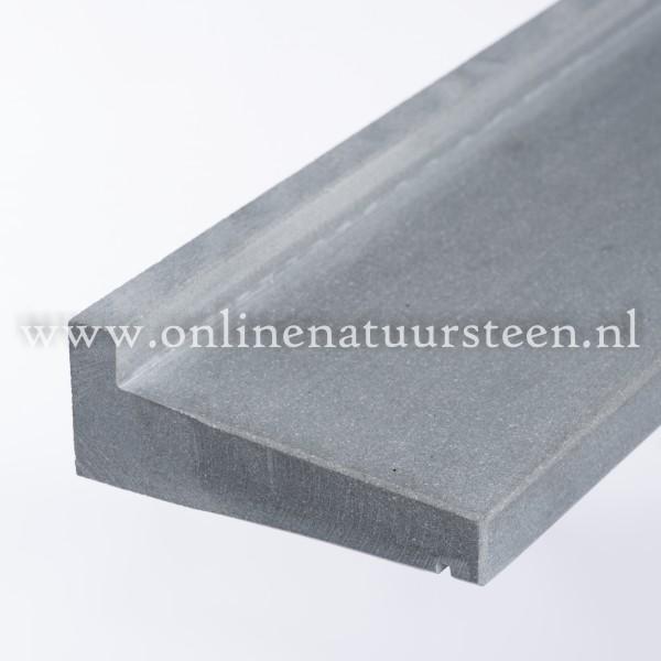 Hardsteen composiet (Buvex ) raamdorpel gezoet geprofileerd - 8 cm.