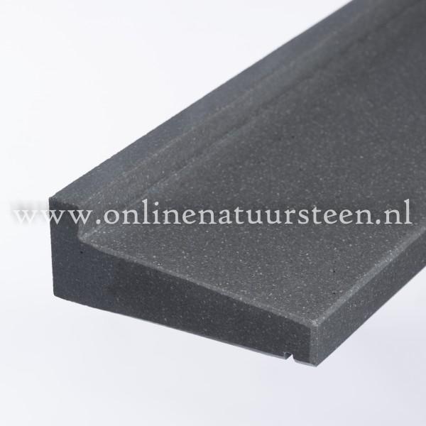 Hardsteen composiet (Buvex ) raamdorpel gezoet geoliede geprofileerd - 6 cm.