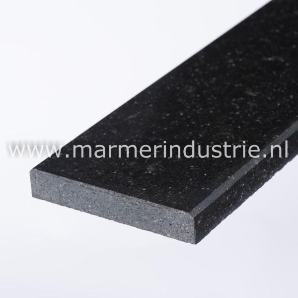 Buvex zwart ® (gezoet gefluateerd) - 3 cm.