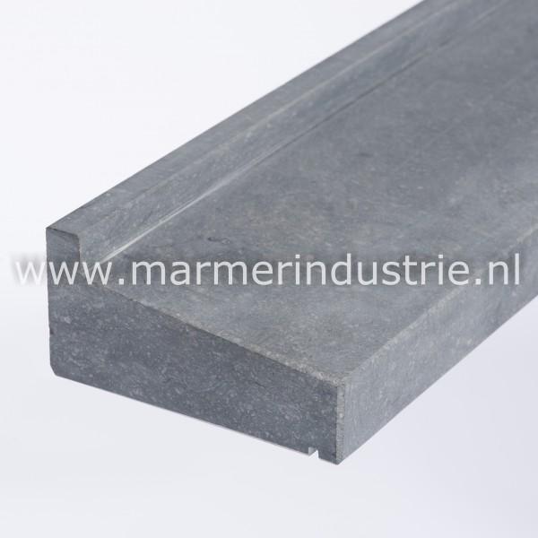 Belgisch hardsteen gezoet geprofileerd - 12 cm. maatwerk